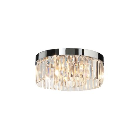 crystal bathroom ceiling light saxby lighting 35612 crystal bathroom flush chrome and