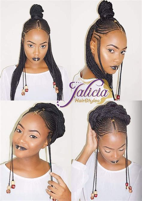 madame noire front side cornrow hairstyles straightup side front coiffure afro petites filles