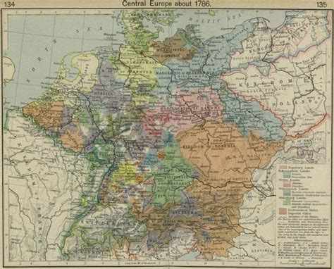 central europe about 1786