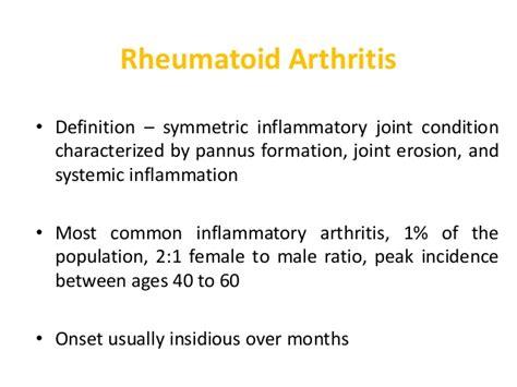 Rã Sumã Definition Inflamatory Arthritis