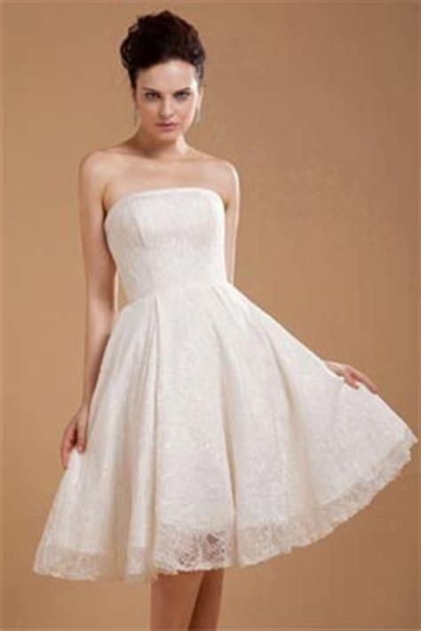 Hochzeitskleid Schlicht Knielang by Traumhaftes Brautkleid Knielang Sch 246 Ne G 252 Nstige