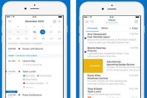 outlook mobile outlook on ios and android gets a facelift from the