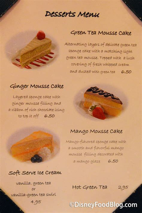 Come With Me Graduation Menu Dessert by Review Tokyo Dining In Epcot S Japan Pavilion The
