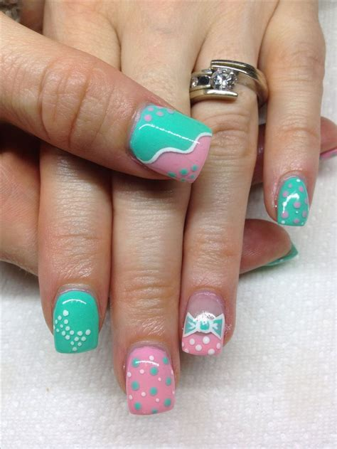 easy nail art by hand gel nails with hand drawn design using gel by melissa fox