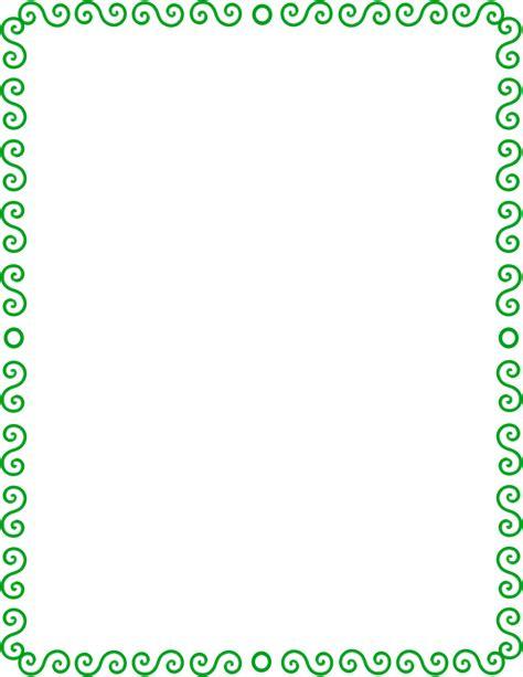 s spiral border green page frames spiral border s
