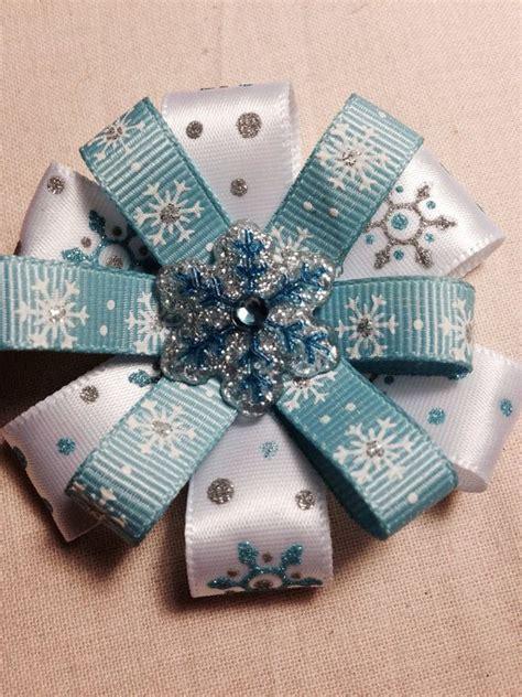 Handmade Hair Bows - handmade 3 quot winter snowflake hair bow boutique