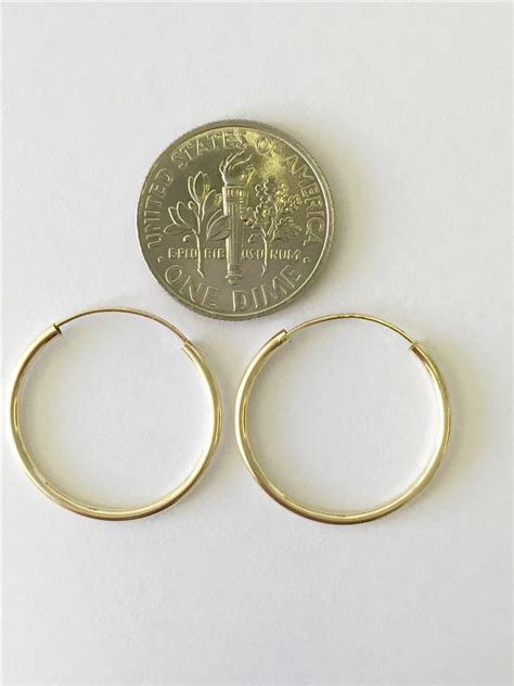 14k 10mm 12mm 16mm 20mm 25mm yellow gold hoops endless