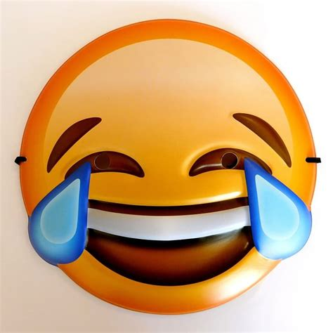 crying laughing emoji mask fancy dress party uk