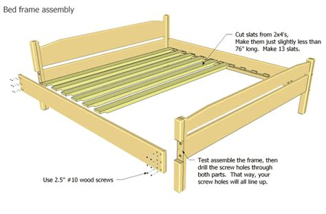 Woodworking Plans Bed Frame Free