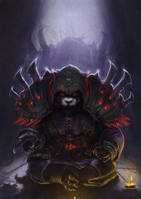warcraft pandaren fan art pandaren shadow priest by devmarine on deviantart