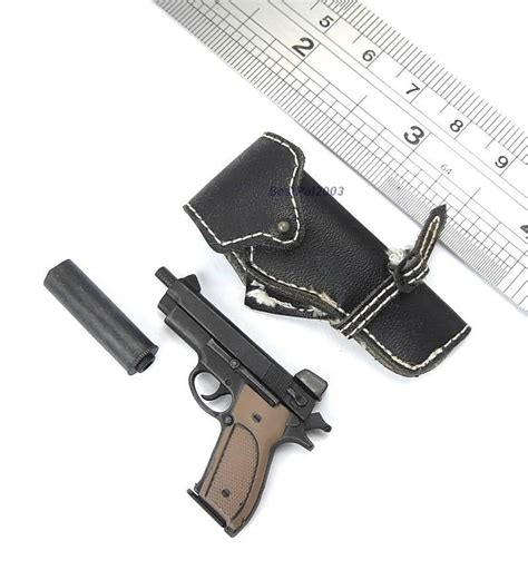 hush puppy pistol 1 6 scale hush puppy pistol from toys navy seal in m60 gunner figure ebay