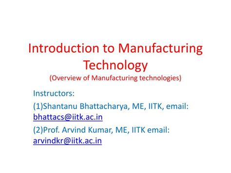 test technology overview ppt download ppt introduction to manufacturing technology overview