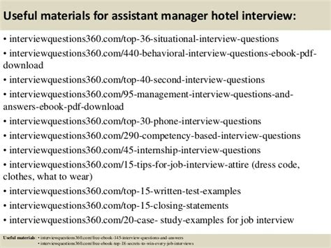 top 10 assistant manager hotel questions and answers