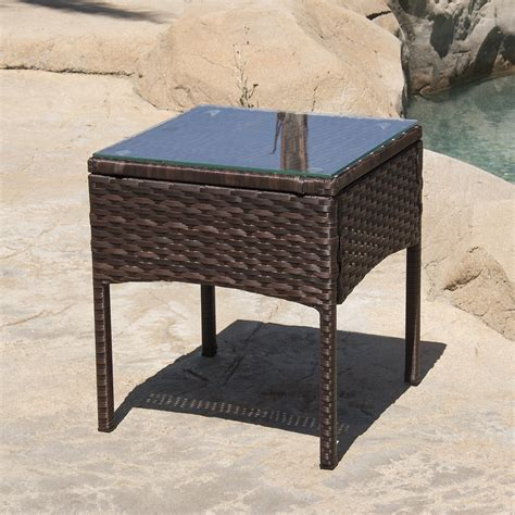3 pcs outdoor rattan wicker patio chat chairs table