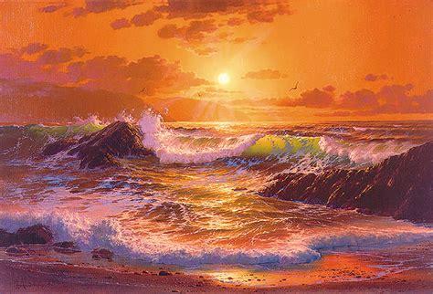 21 beautiful sunset paintings free premium templates