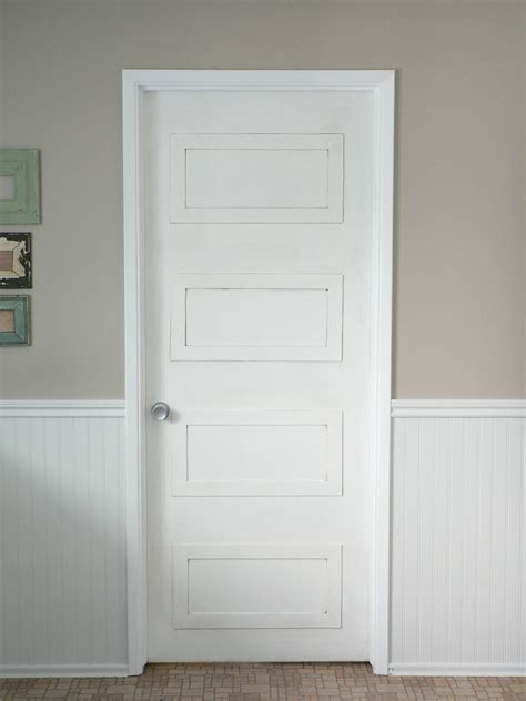 Door Panel by Remodelaholic 40 Ways To Update Flat Doors And Bifold Doors