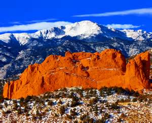 Garden Of The Gods Colorado Springs Co by Sweet America Pikes Peak Mounatin From Garden Of The Gods