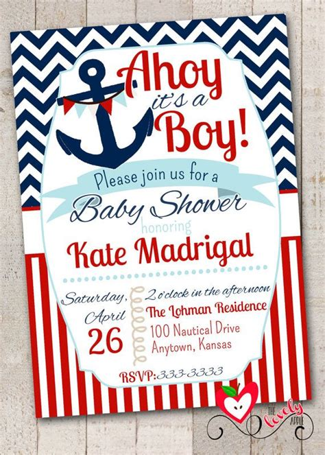 Diy Nautical Baby Shower Invitations by Nautical Baby Shower Invitation With Free Raffle