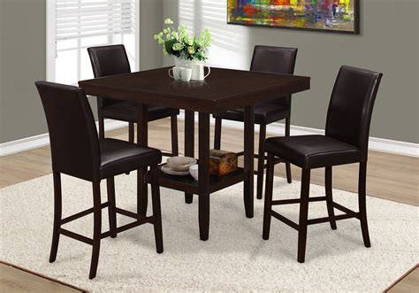 42 Height Dining Table I 1900 Dining Table Only 42 Quot X 42 Quot Cappuccino Counter Height