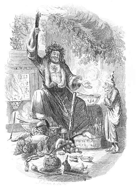 antique christmas image dickens  christmas carol  graphics fairy