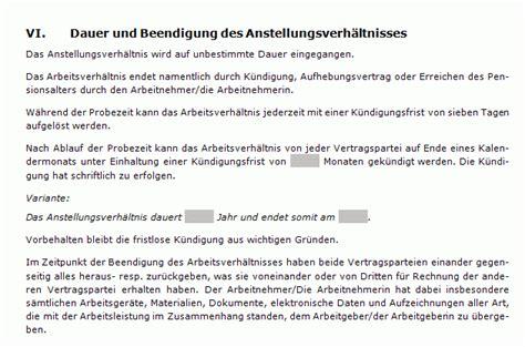 Brief In Schweiz Dauer Arbeitsvertrag Stundenlohn Muster Zum