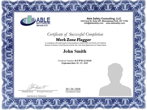 flagger certification card template traffic work zone flagger classes flagger test