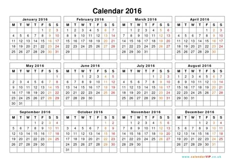 large printable yearly calendar 2016 2016 yearly calendar large printable free calendar template