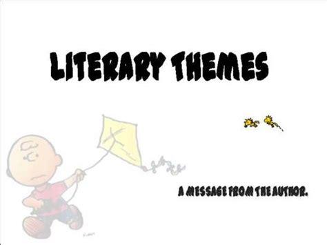 theme powerpoint literature literary theme authorstream