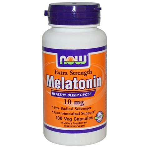 Does Melatonin Detox Brain by Now Foods Melatonin 10 Mg 100 Vcaps Evitamins