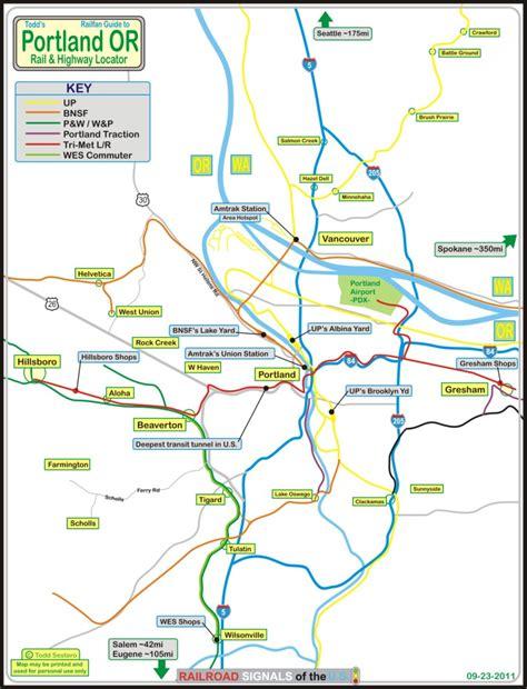 portland light rail map portland or railfan guide