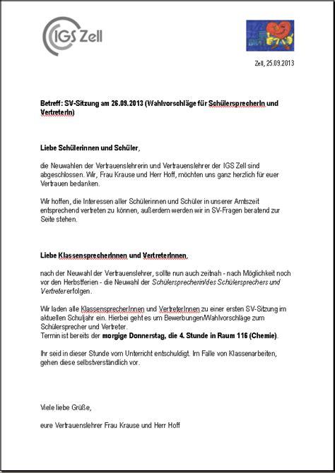 Muster Einladung Referenten Sv Mitteilungen Und Einladung Zur Wahl Integrierte