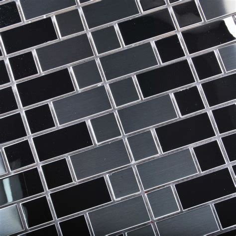stainless steel mosaic backsplash tst stainless steel mosaic tile silver mirror glass tiles
