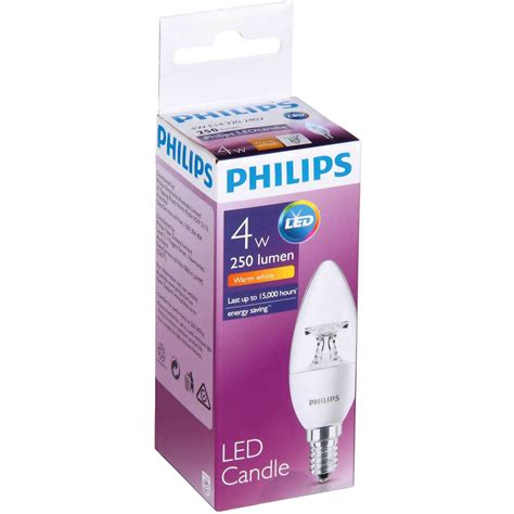candele led philips philips led 25lm candle e14 b35 each woolworths