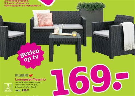 allibert loungeset messina allibert loungeset folder aanbieding bij leenbakker details