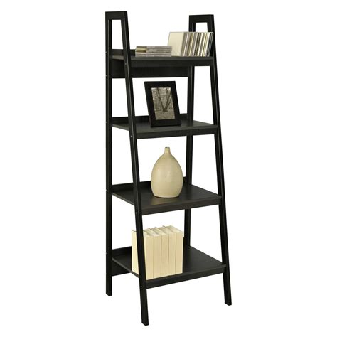 Ladder Bookcase Leaning Ladder Bookshelves Plans For Office