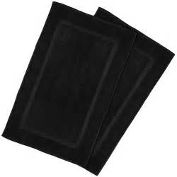 Black Bathroom Floor Mats Luxury Hotel Spa Tub Shower Bath Mat Floor Mat 2 Pack