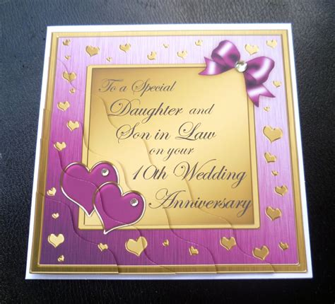 in 10th wedding anniversary card 4 colours ebay