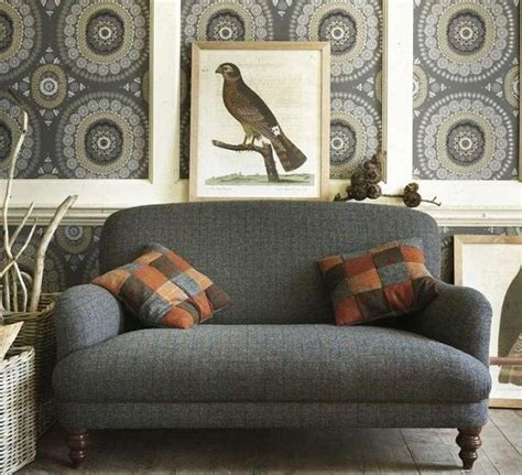 traditional living room sofas traditional living rooms two seater harris tweed sofa
