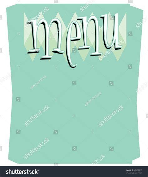 a fun retro style blank menu template stock vector