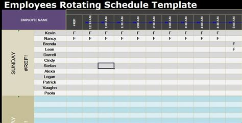 100 free rotation schedule template free excel