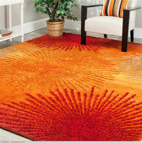 orange rug 8 orange area rugs for your living room furniture