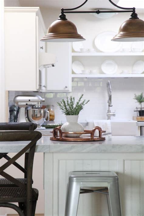 white kitchen tour guest countertops slate backsplash remodelaholic kitchen mini makeover with affordable