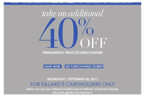 dillards clearance center coupon