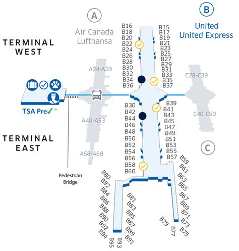 denver international airport map denver international den airport map