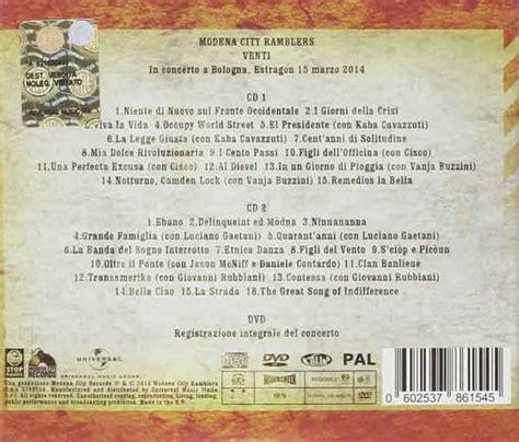 testo ebano modena city ramblers venti 1994 2014 tracklist album