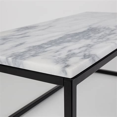 marble top coffee table marble top coffee table with black steel frame by