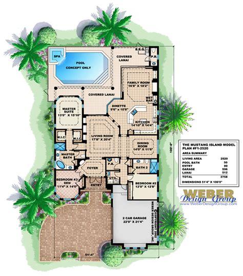 island house plans marbella i home plan weber design group