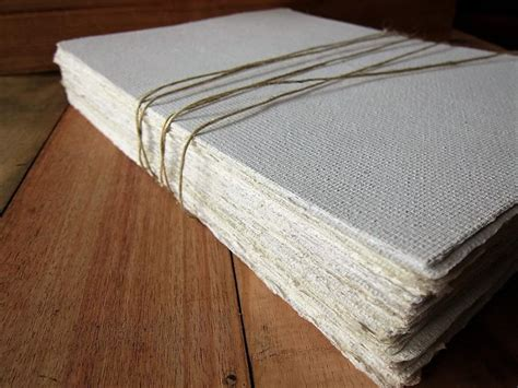 Handmade Writing Paper - white handmade paper sheets recycled paper bookbinding
