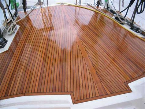 finishing teak wood on a boat the truth about teak decks practical boat owner
