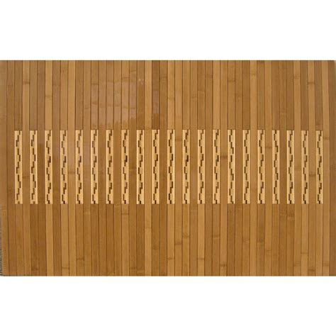 Bamboo Kitchen Floor Mat by Anji Mountain Light Brown 20 In X 48 In Bamboo Kitchen And Bath Mat Amb0090 2048 The Home Depot